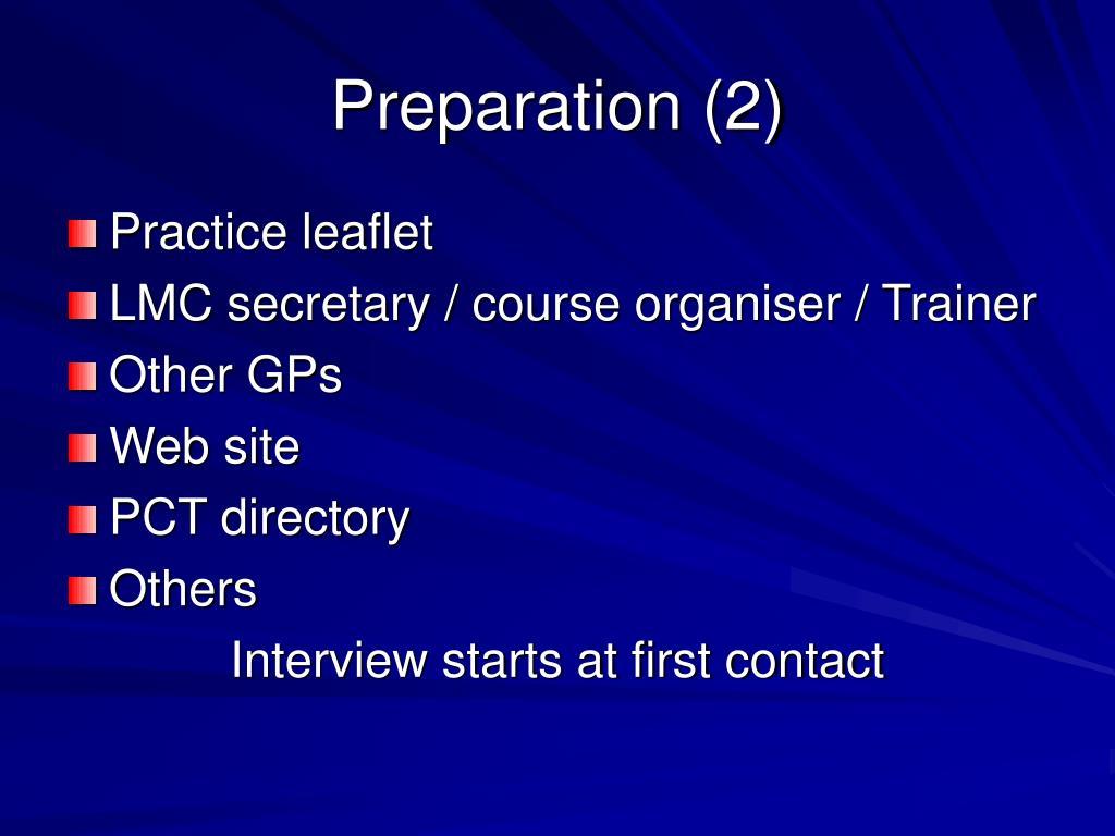 Preparation (2)