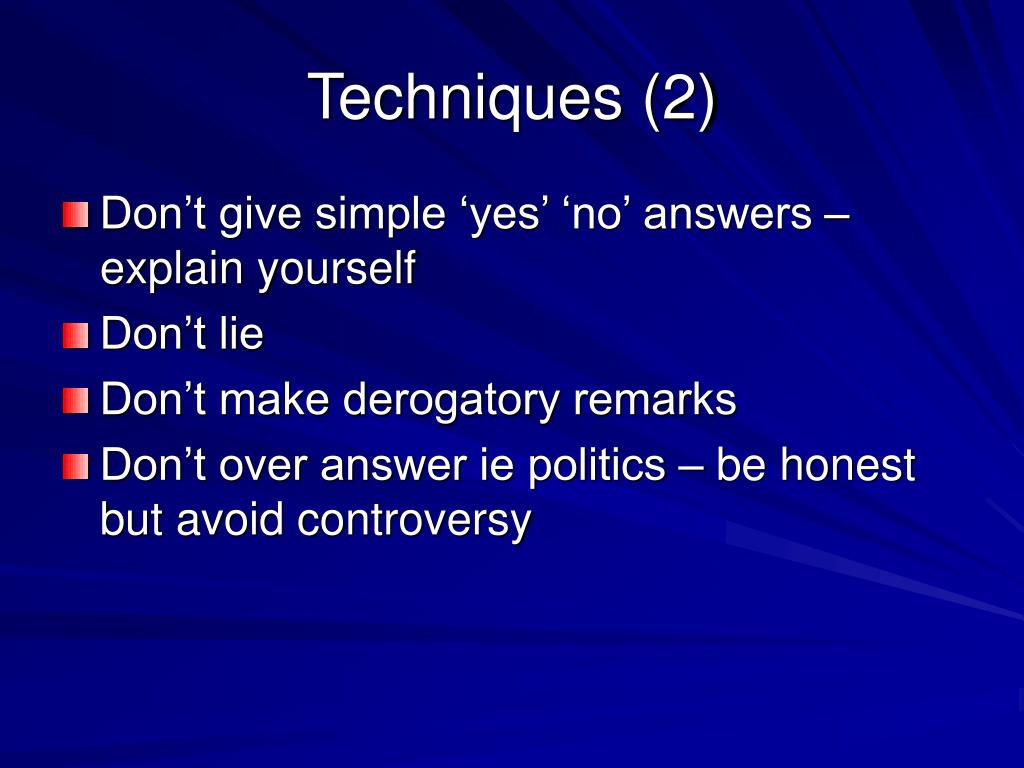 Techniques (2)