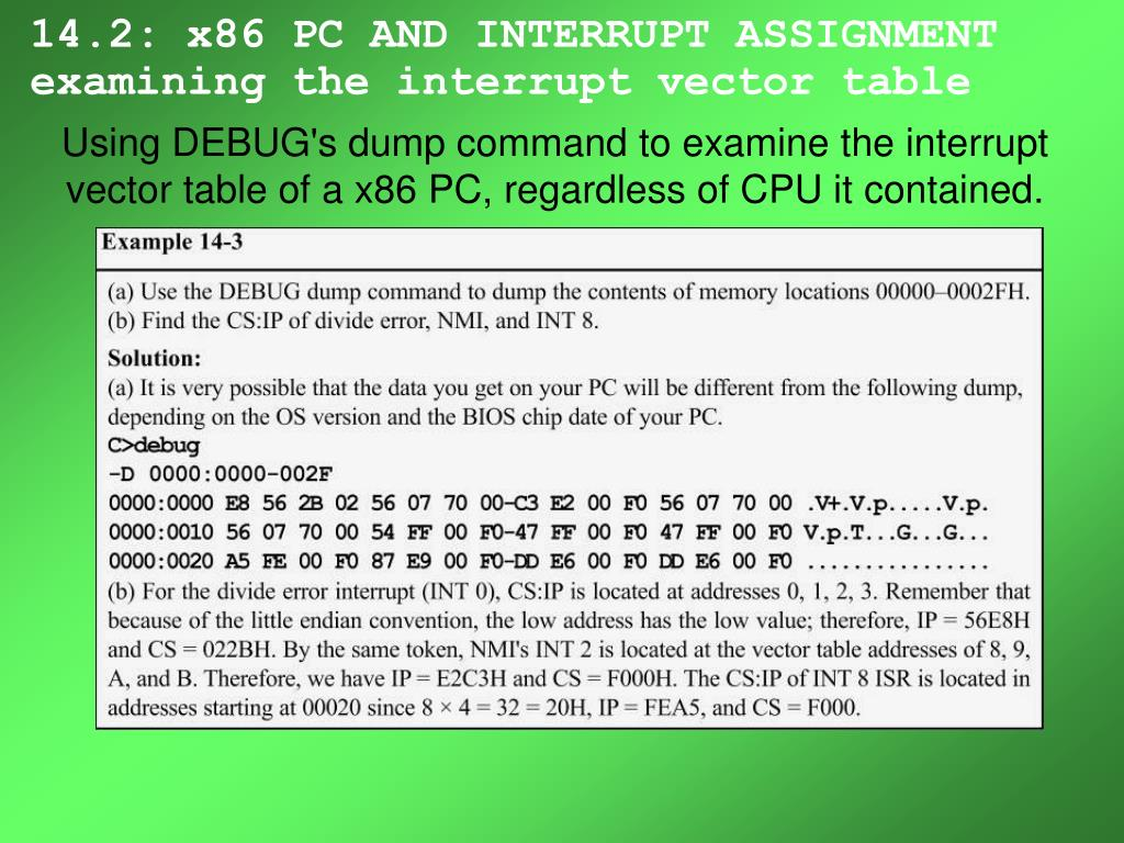 14.2: x86 PC AND INTERRUPT ASSIGNMENT