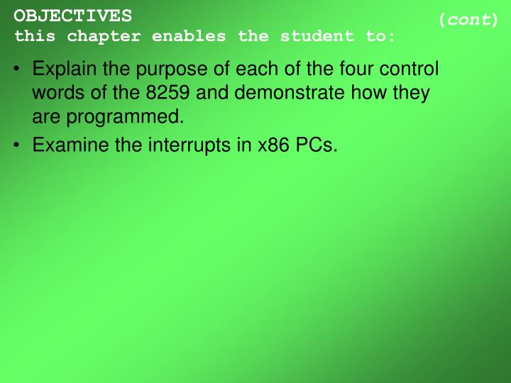 Objectives this chapter enables the student to3