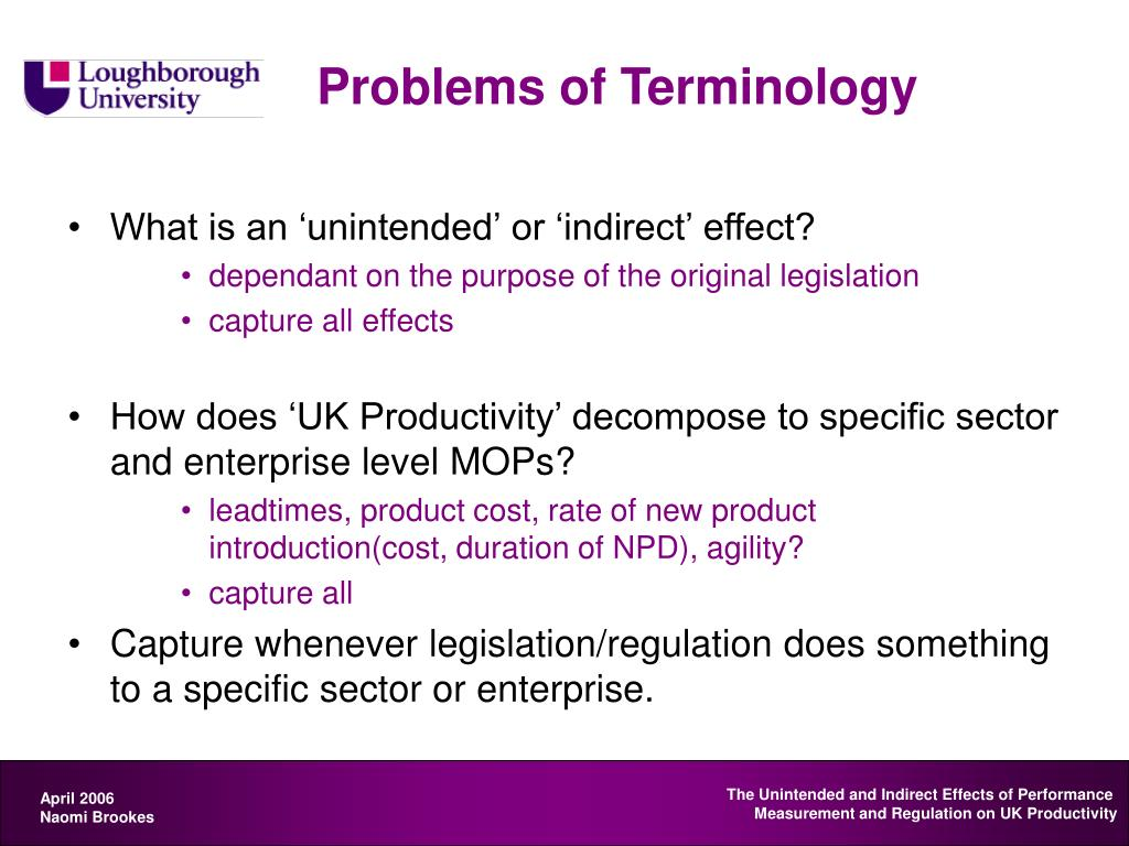 Problems of Terminology