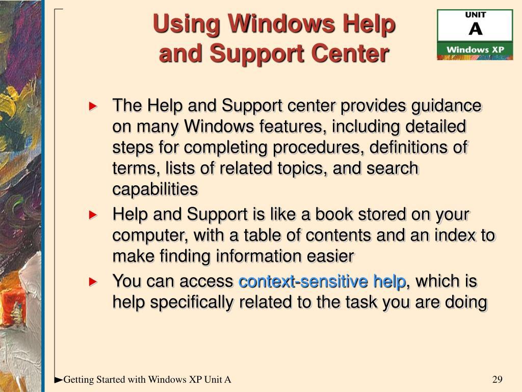 Using Windows Help