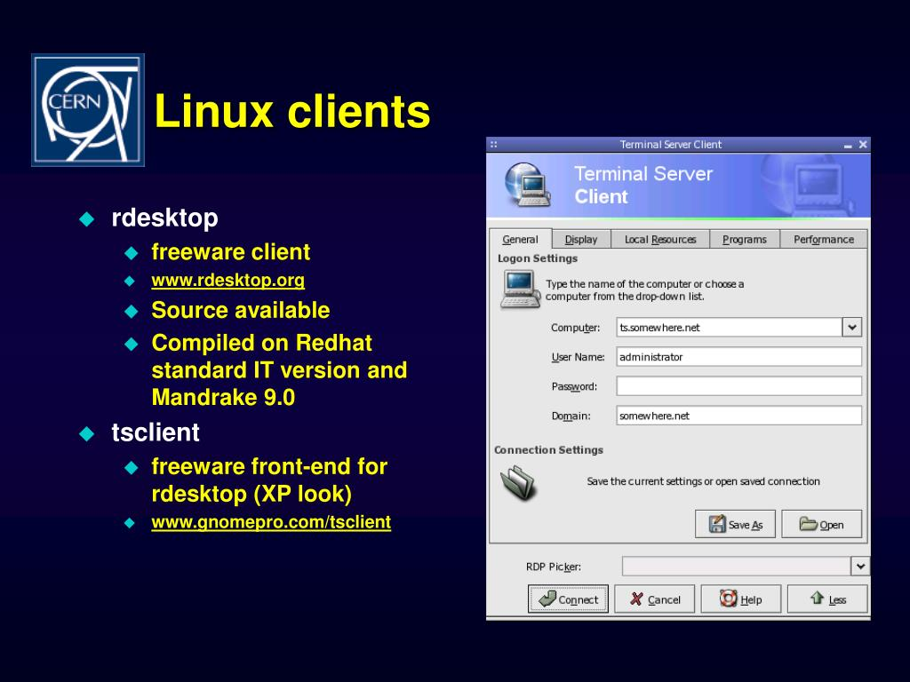 Linux clients