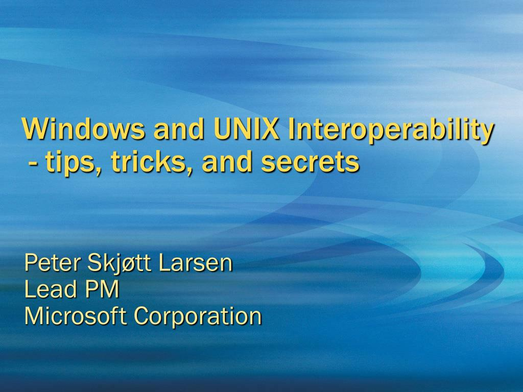 Windows and UNIX Interoperability