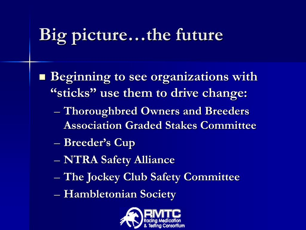 Big picture…the future