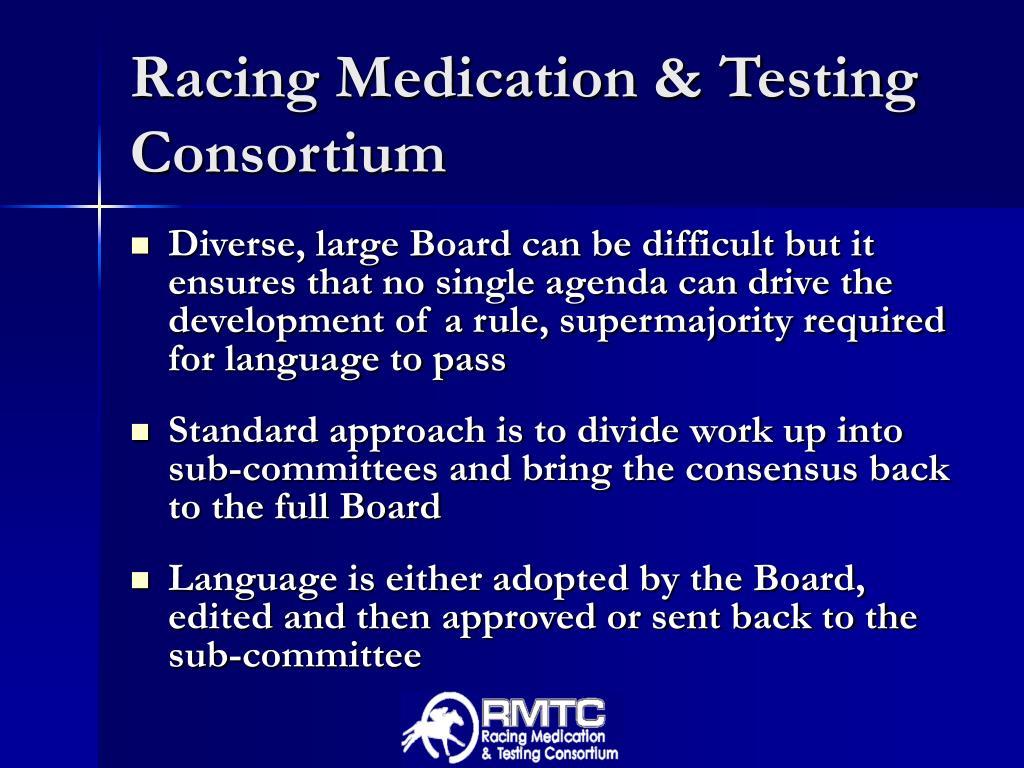 Racing Medication & Testing Consortium