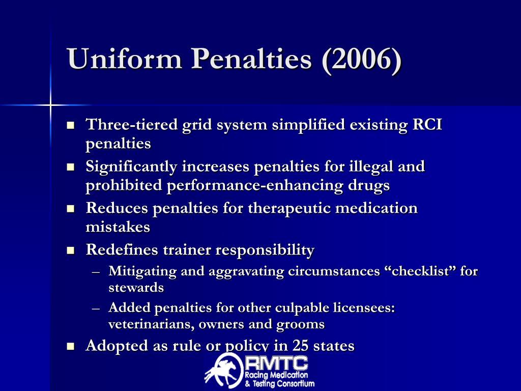 Uniform Penalties (2006)