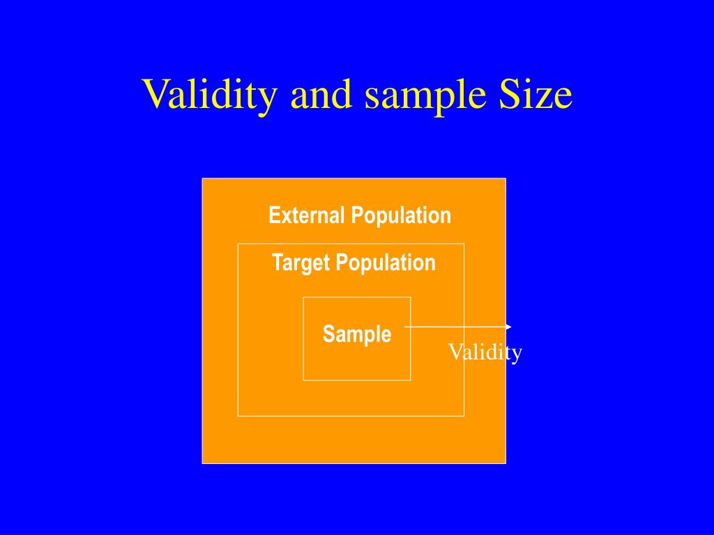 Validity and sample Size