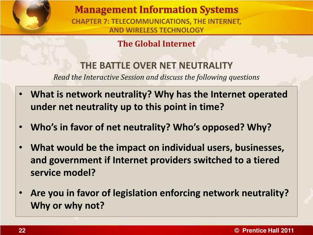 CHAPTER 7: TELECOMMUNICATIONS, THE INTERNET,