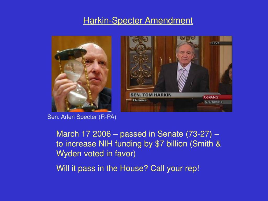 Harkin-Specter Amendment