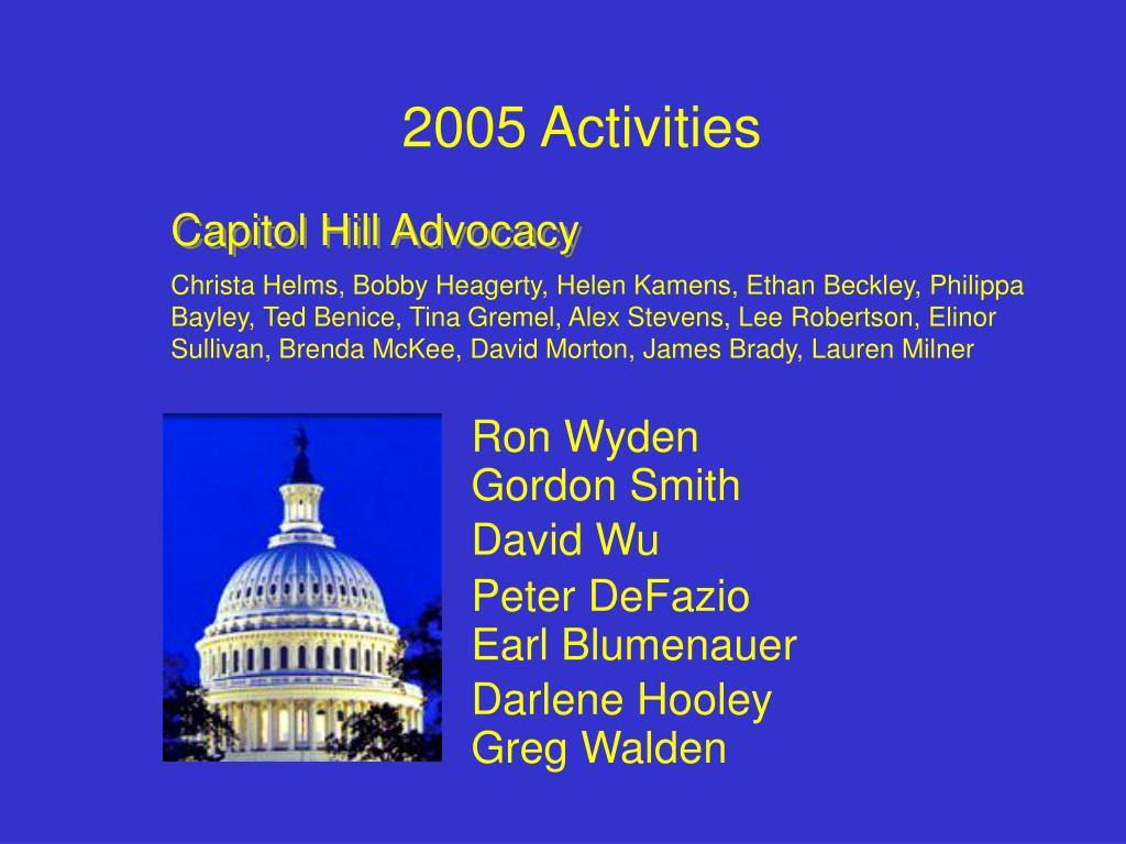 2005 Activities