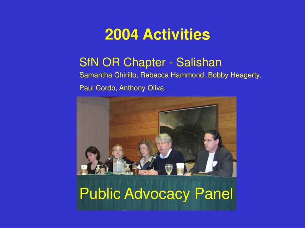 2004 Activities