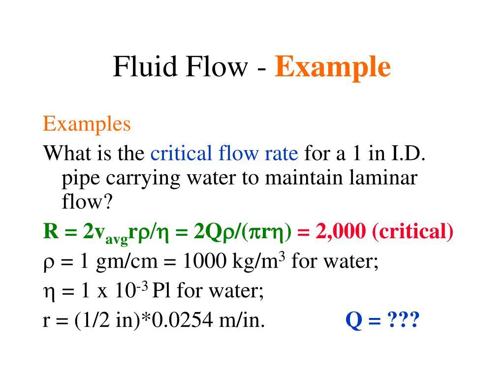 Fluid Flow -