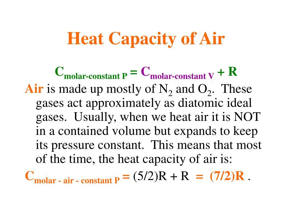 Heat Capacity of Air