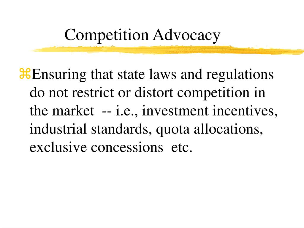 Competition Advocacy