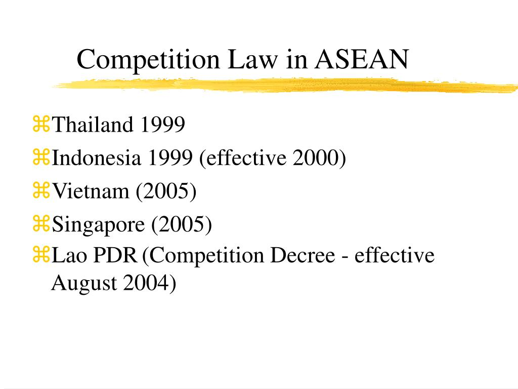 Competition Law in ASEAN