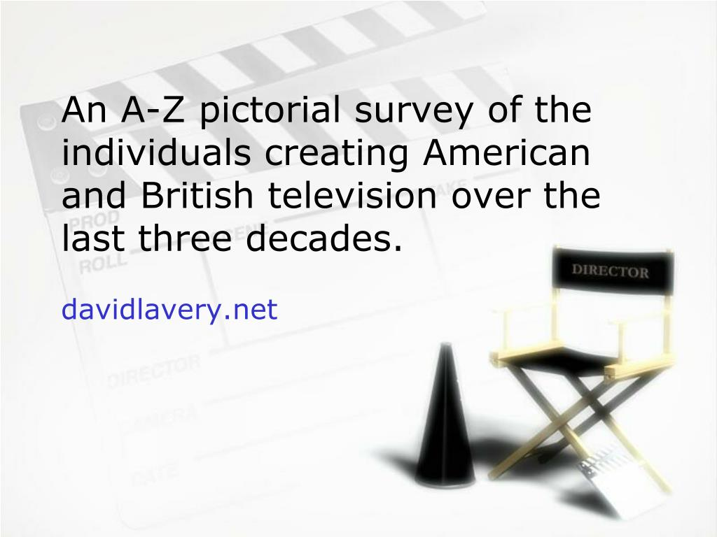 An A-Z pictorial survey of the individuals creating American and British television over the last three decades.