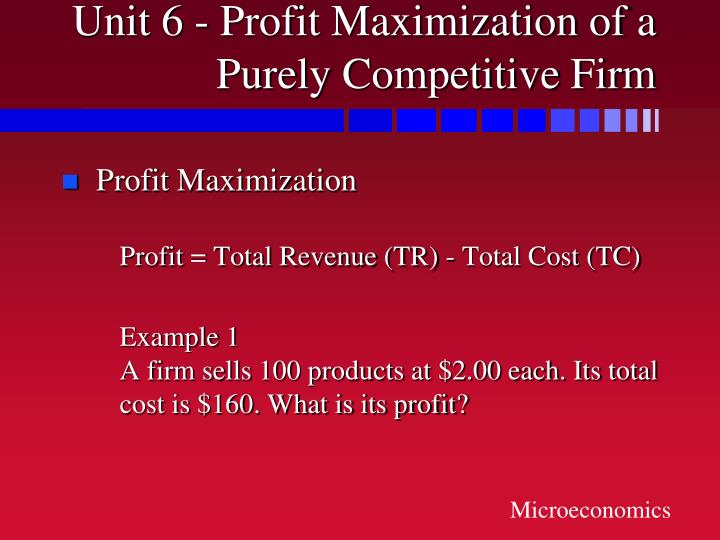 Unit 6 profit maximization of a purely competitive firm3 l.jpg