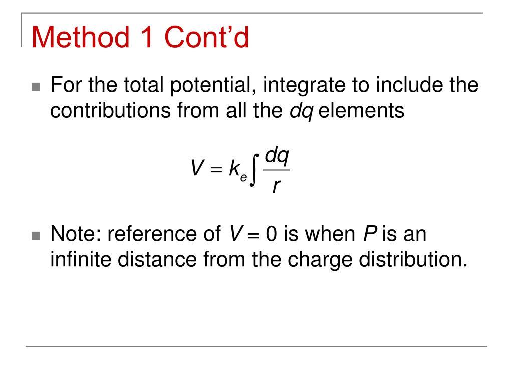 Method 1 Cont'd