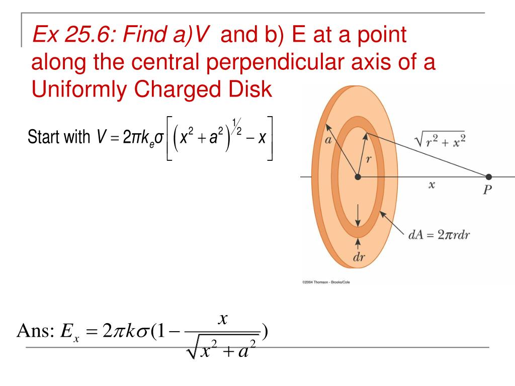 Ex 25.6: Find a)V
