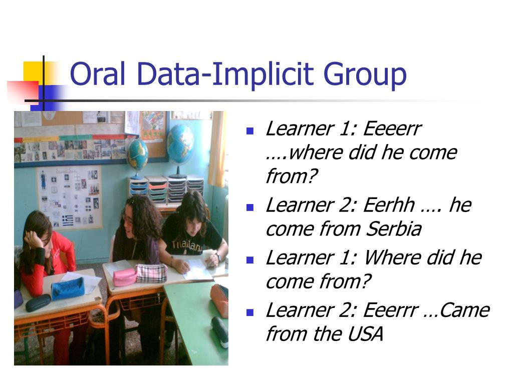 Oral Data-Implicit Group