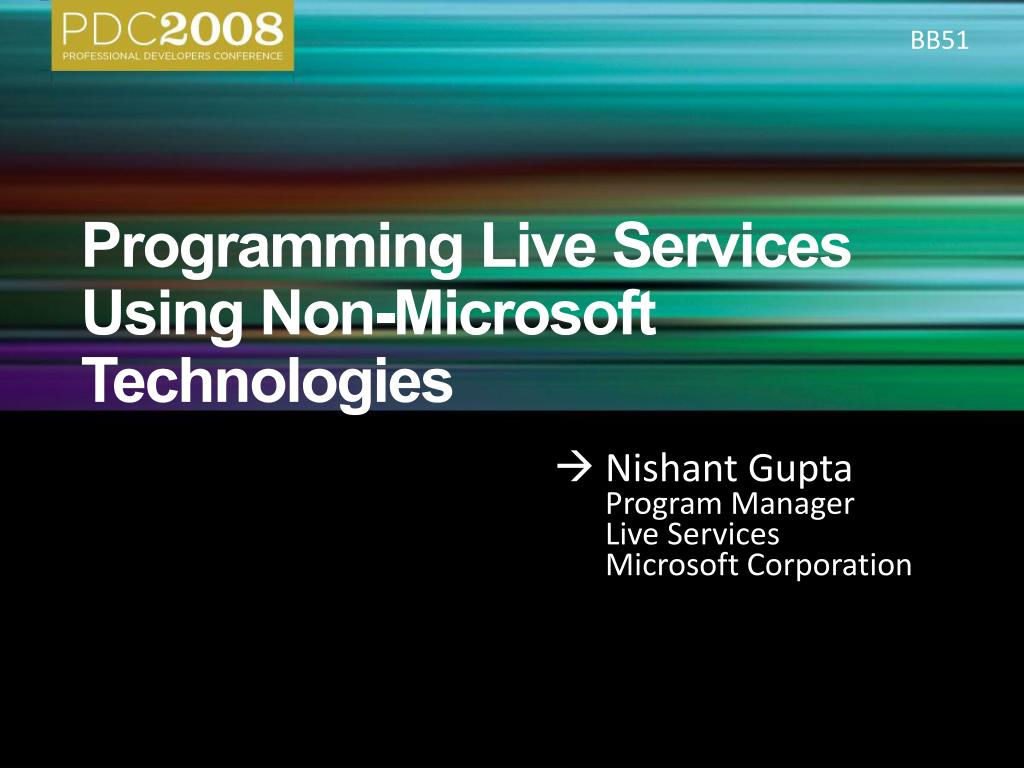 programming live services using non microsoft technologies