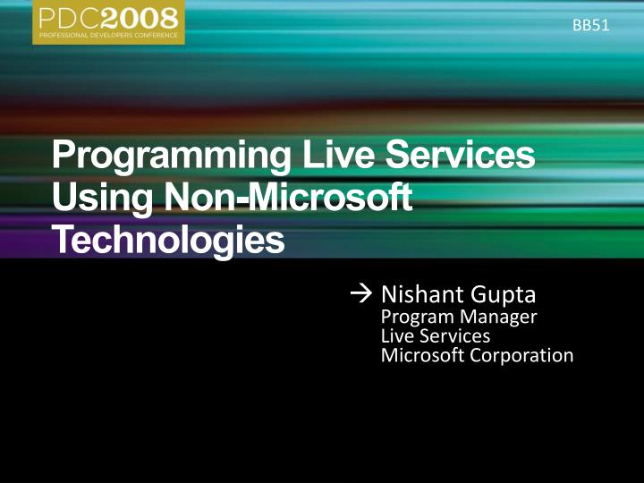 Programming live services using non microsoft technologies l.jpg