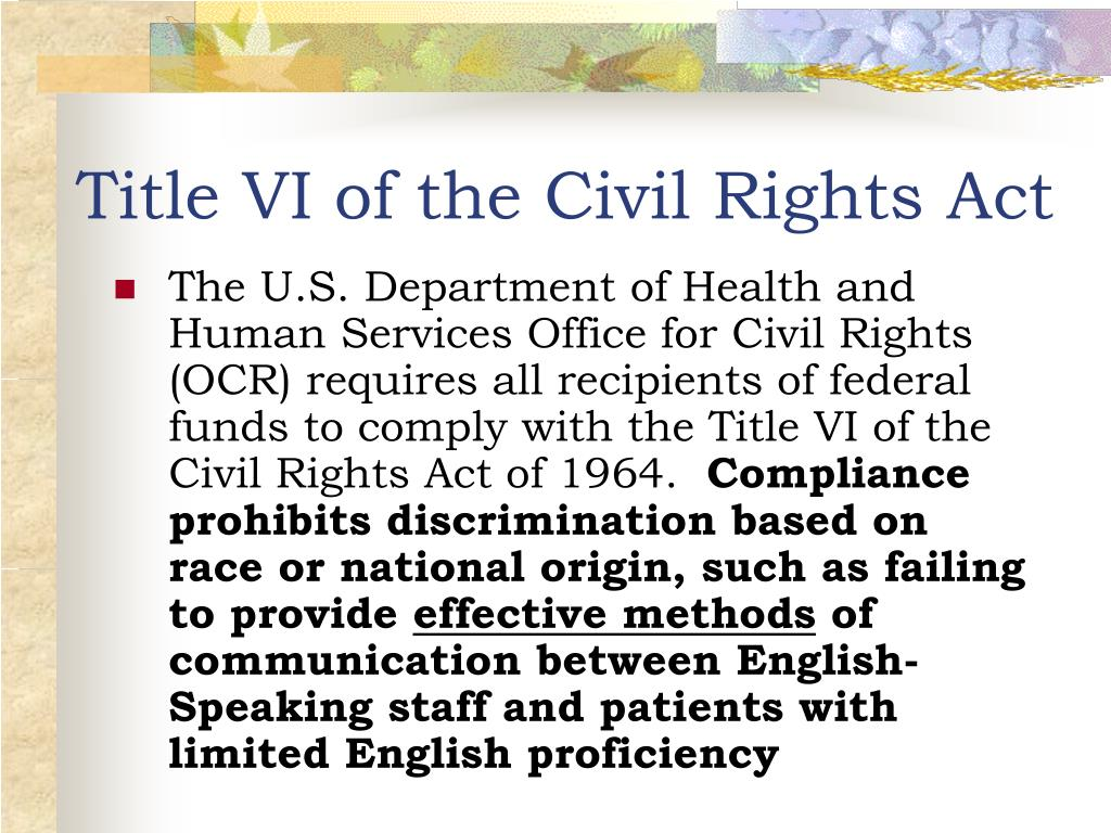 title vii civil rights act essay Title vii of the civil rights act prohibits employment discrimination based on color, race, religion, sex and national origin learn about this law.