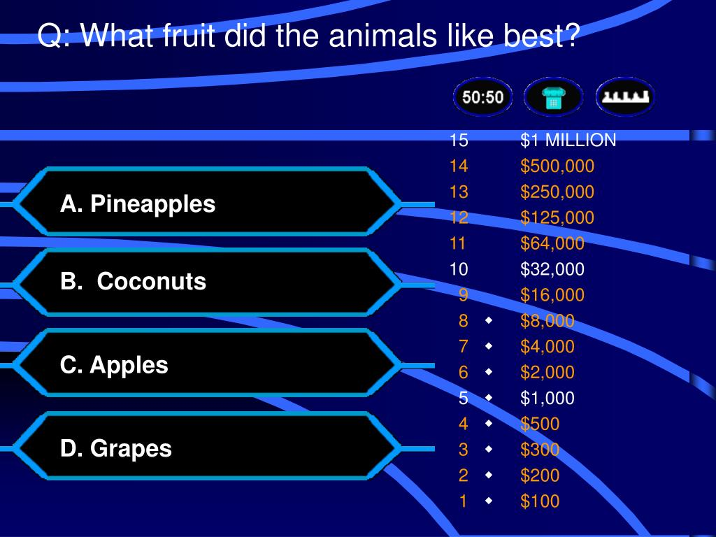 Q: What fruit did the animals like best?