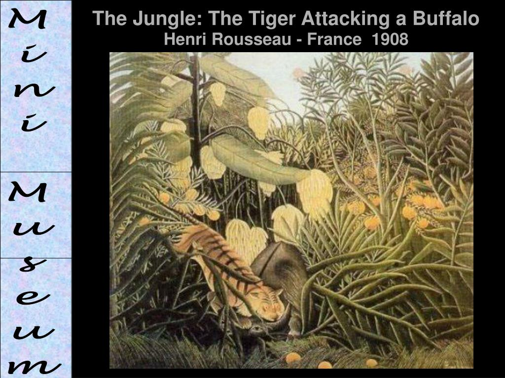 The Jungle: The Tiger Attacking a Buffalo