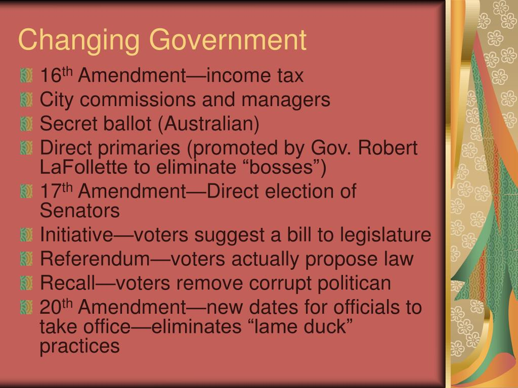 Changing Government