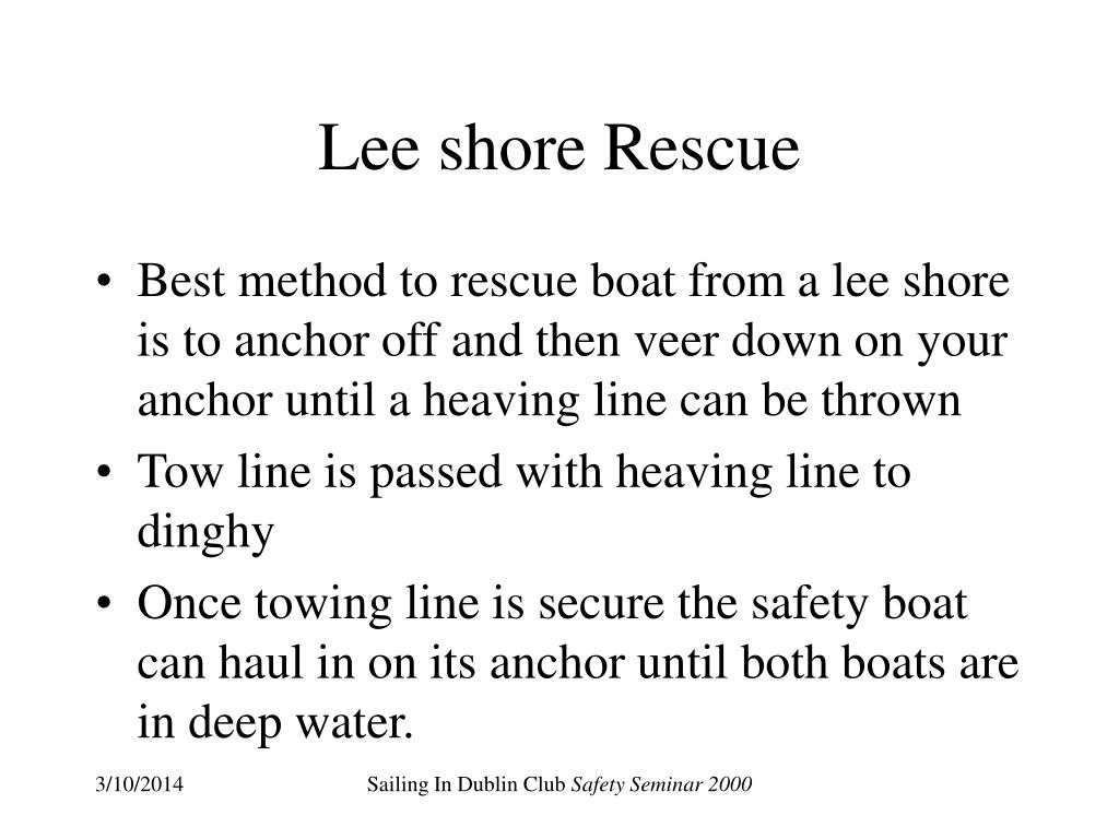 Lee shore Rescue