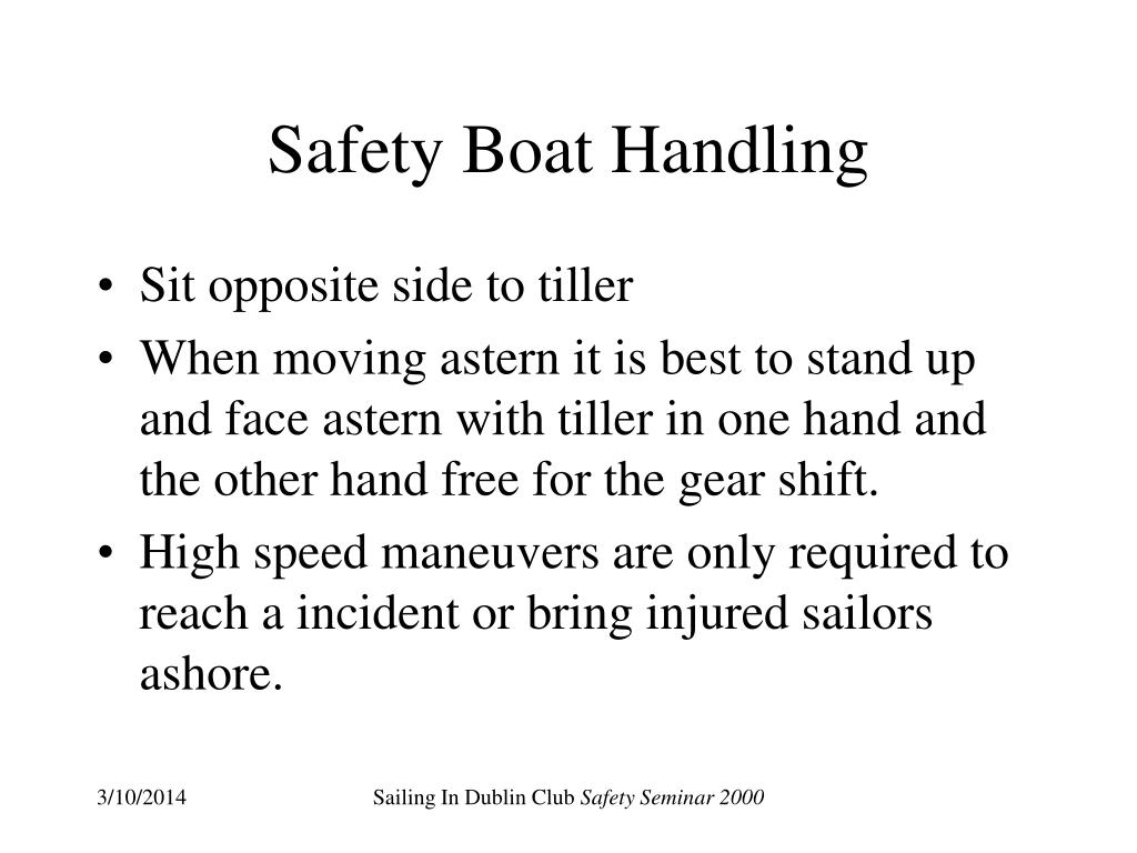 Safety Boat Handling