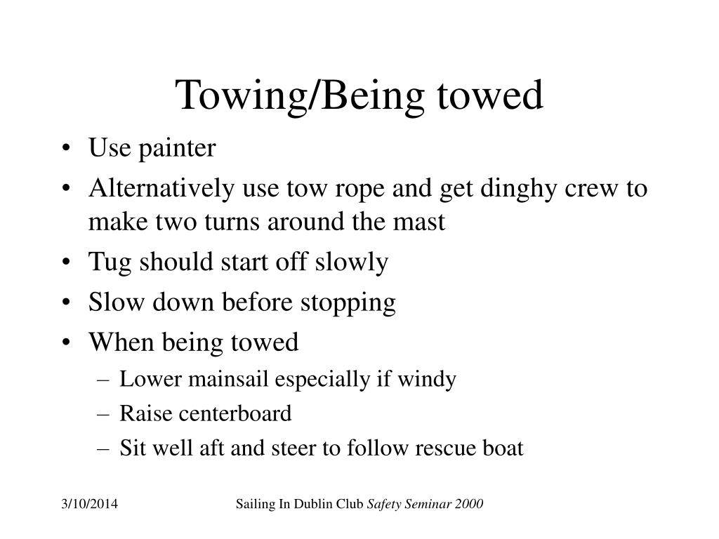 Towing/Being towed