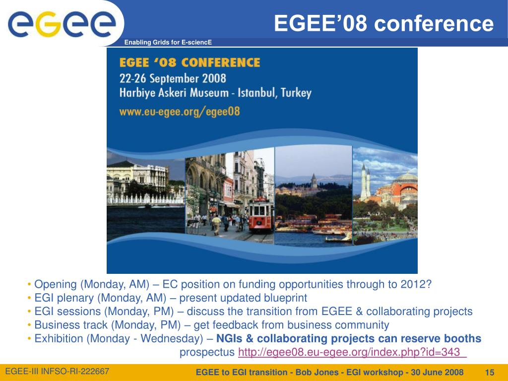 EGEE'08 conference