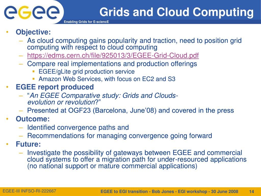 Grids and Cloud Computing