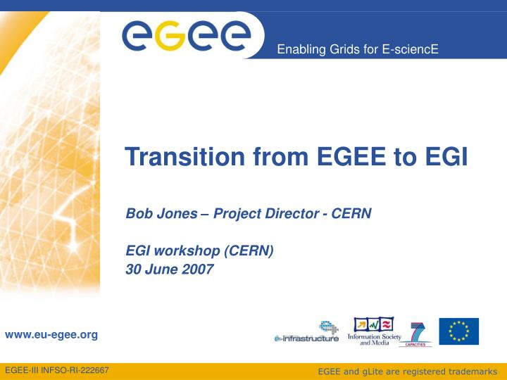 Transition from egee to egi