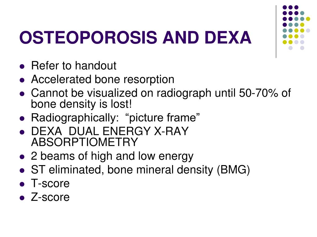 OSTEOPOROSIS AND DEXA
