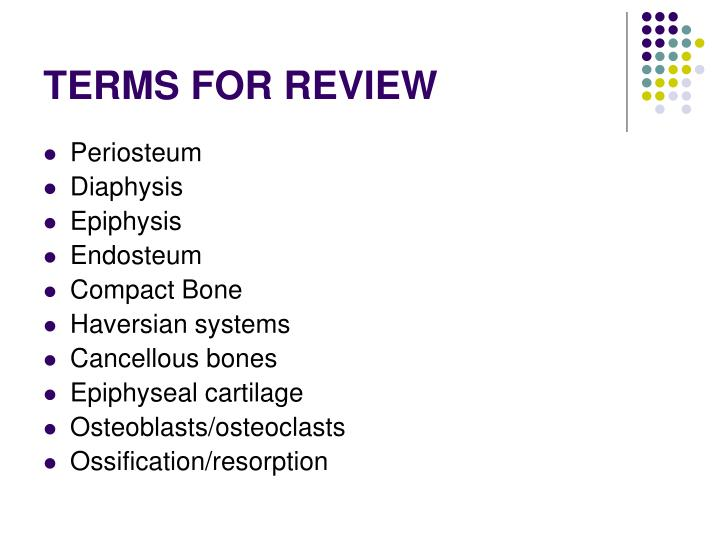 Terms for review