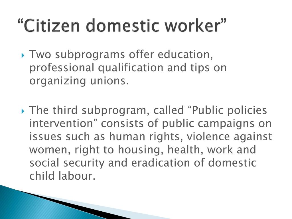 """Citizen domestic worker"""