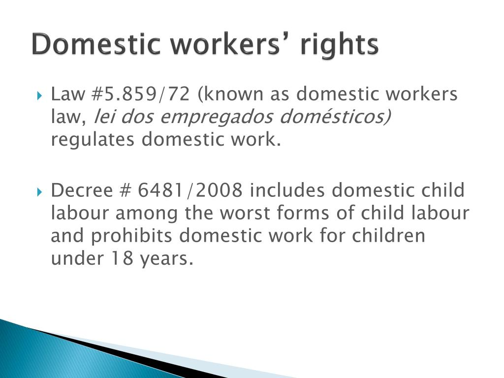 Domestic workers' rights