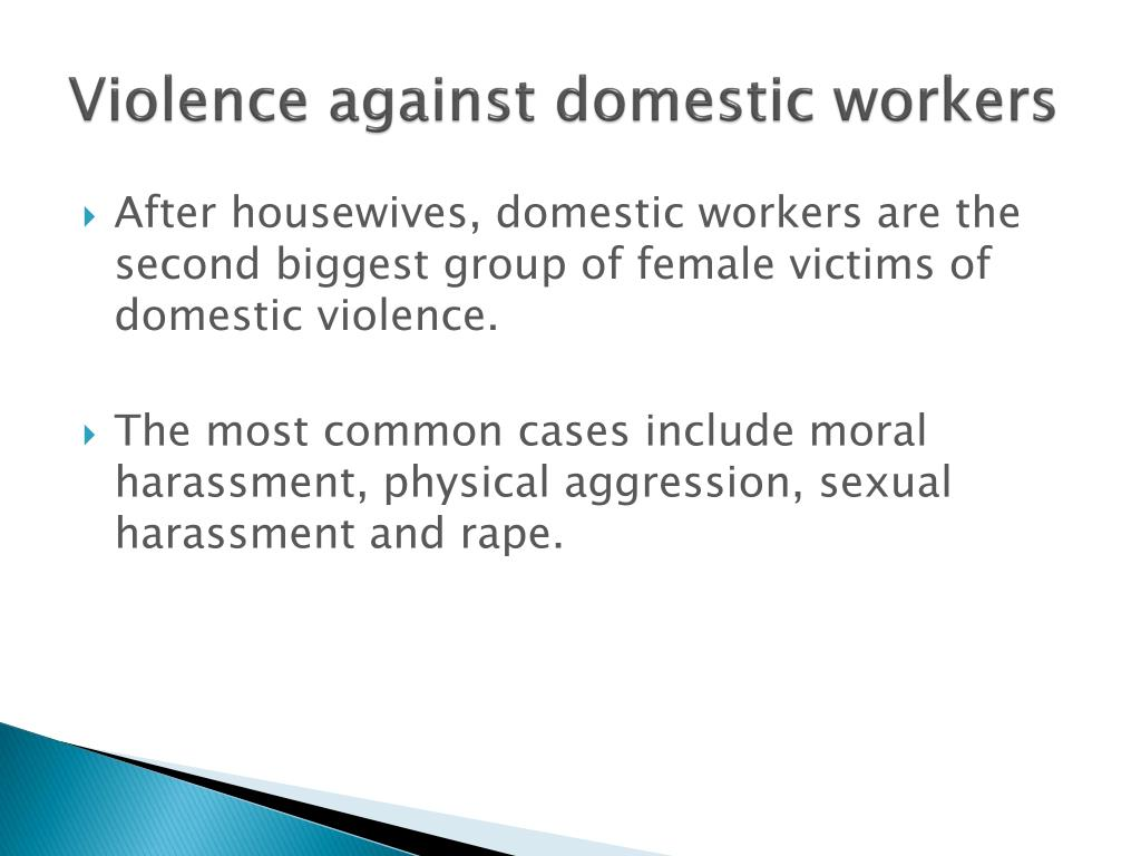 Violence against domestic workers