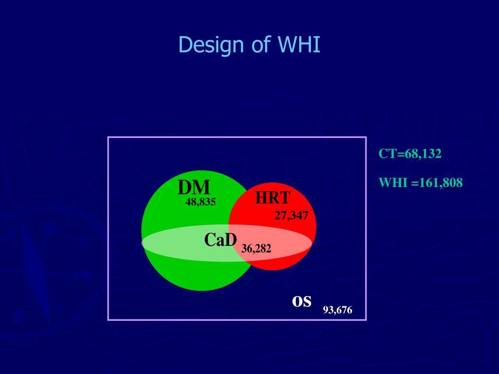Design of WHI