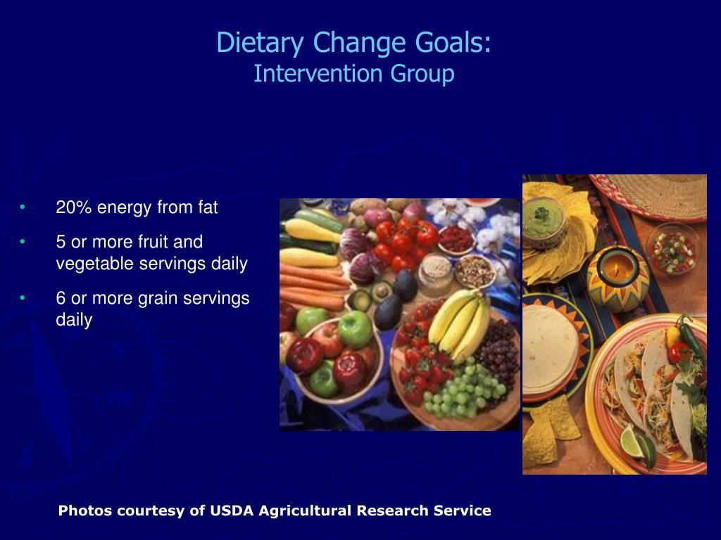 Dietary Change Goals: