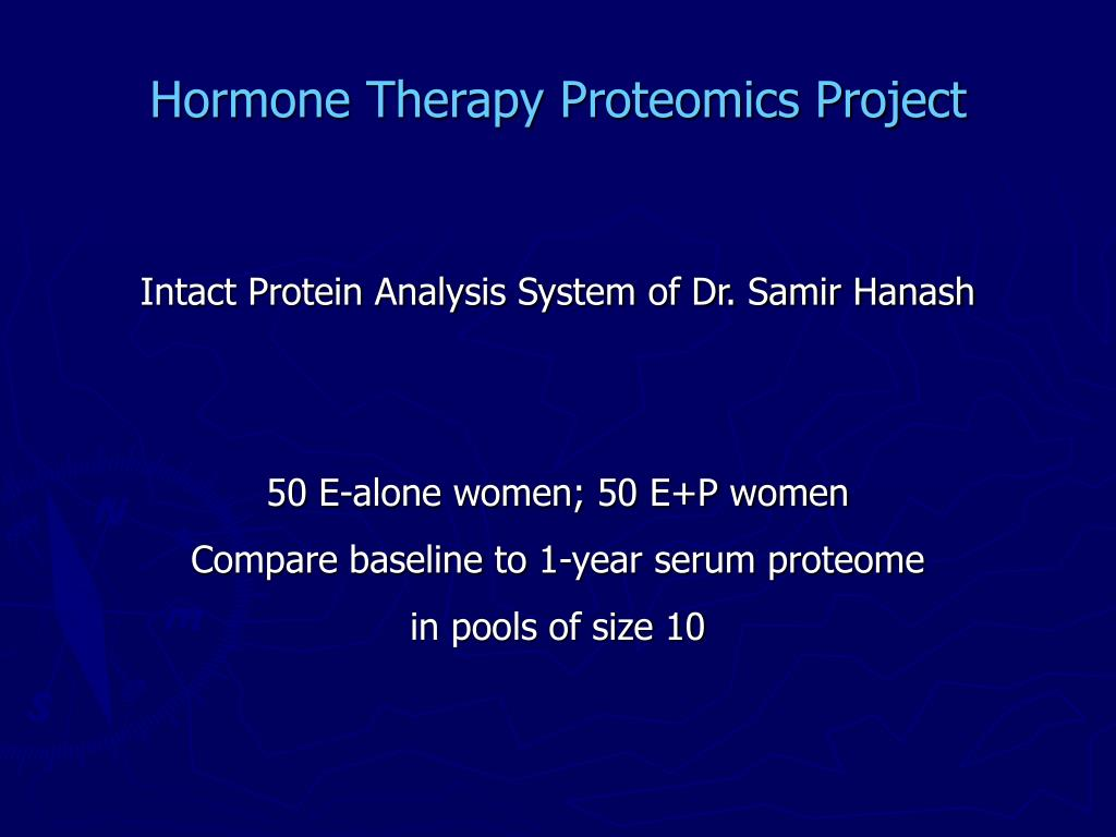 Hormone Therapy Proteomics Project