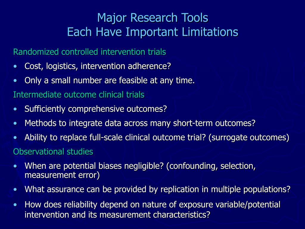 Major Research Tools