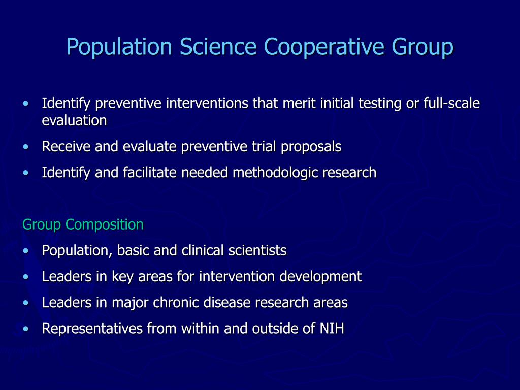 Population Science Cooperative Group