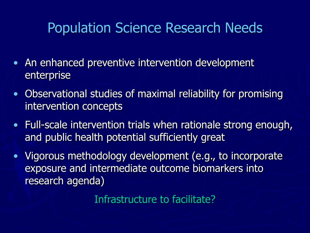 Population Science Research Needs