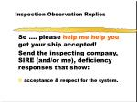 inspection observation replies15