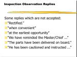 inspection observation replies23